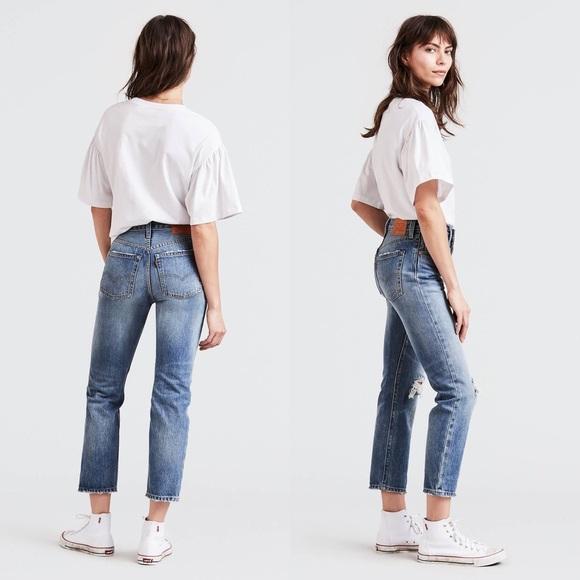 fe949c55089bfb Levi's Jeans | Nwt Levis 501 Original Cropped Jean Vintage Find ...